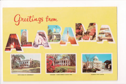 AL, Alabama - Greetings from, Large Letter postcard - B08008