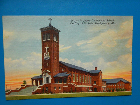 AL, Montgomery - St Judes Church and School postcard - H03206