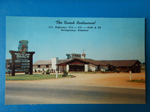 AL, Montgomery - The Ranch Restaurant postcard - MB0539