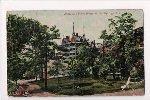 AR, Hot Springs - Army and Navy Hospital - z17047 - postcard **DAMAGED / AS IS**