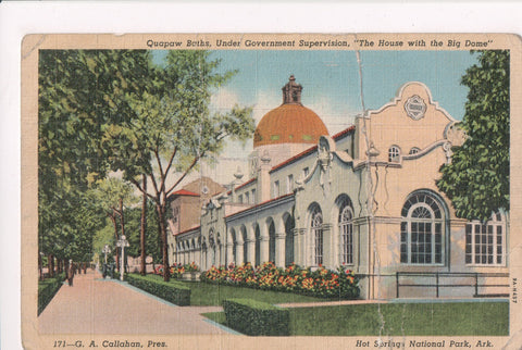 AR, Hot Springs National Park, Quapaw Baths - z17080 postcard **DAMAGED / AS IS*