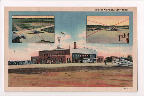 MI, Flint - Bishop Airport, multi view postcard - 405009