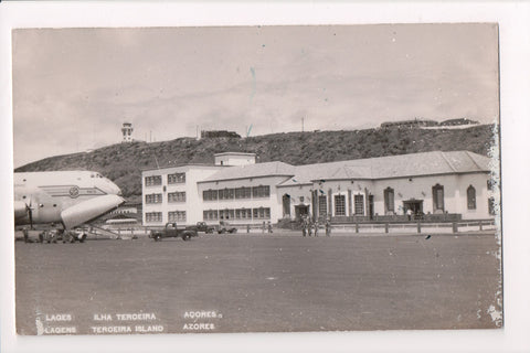 Foreign postcard - Terceira Island, Azores, Lagens Lajes Airport RPPC - 500449
