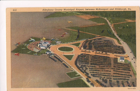 PA, Pittsburgh - Allegheny County Municipal Airport postcard - A06507