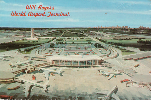 OK, Oklahoma City - Will Rogers World Airport Terminal, @1977 postcard - C-0272