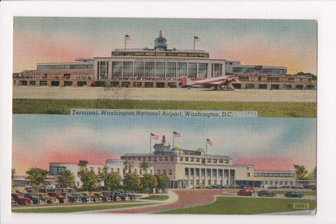 DC, Washington - Washington National Airport postcard multi view - w04176