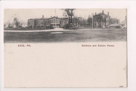 PA, Erie - Soldiers and Sailors Home, 1906 postcard - B06231