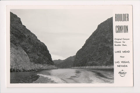 NV, Las Vegas - Lake Mead, Boulder Canyon RPPC - B06315