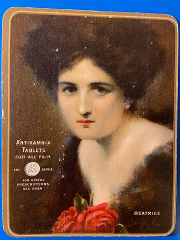 People - Female postcard - Pretty Woman - Antikamnia Tablets 1910 Calendar - BP0