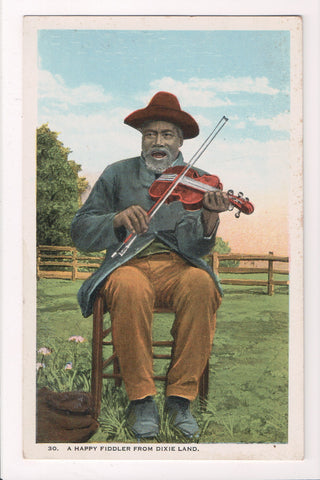 Black Americana - Black Fiddler from Dixie Land, playing violin - T00194
