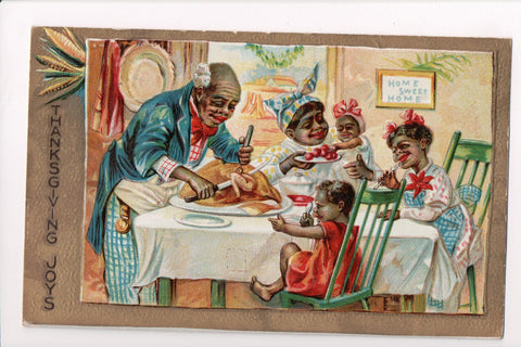 Black Americana - Black family, man carving turkey - Thanksgiving - EP0076