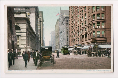 IL, Chicago - DEARBORN ST, the WARRINGTON? - postcard - C08286