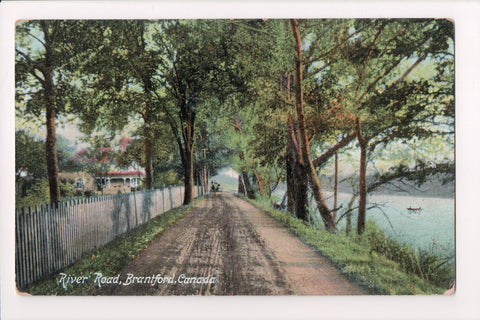Canada - Brantford, ON - River Road - @1908 postcard - R00584