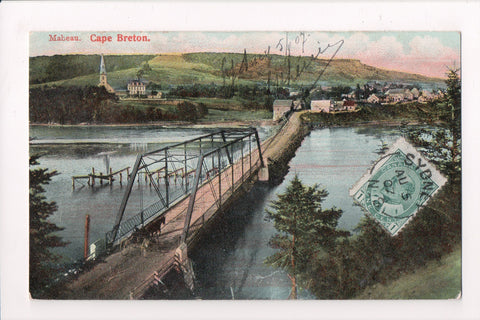 Canada - Cape Breton, NS - Mabeau, Bird Eye View, bridge - 800454