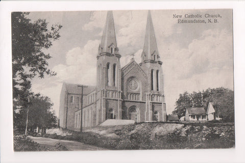 Canada - Edmundston, NB - Catholic Church (New) - @1929 postcard - B11031