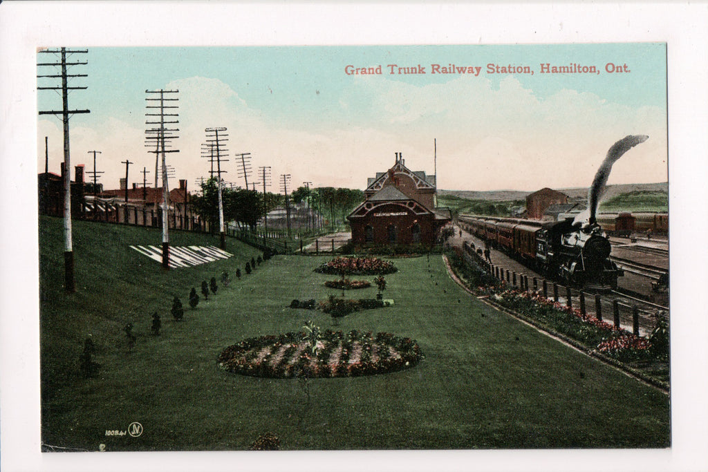 Canada - Hamilton, ON - Grand Trunk Railway Station postcard - C06614