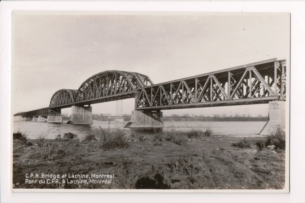 Canada - Lachine, QC - CPR Bridge, Pont du CPR RPPC postcard - w05226