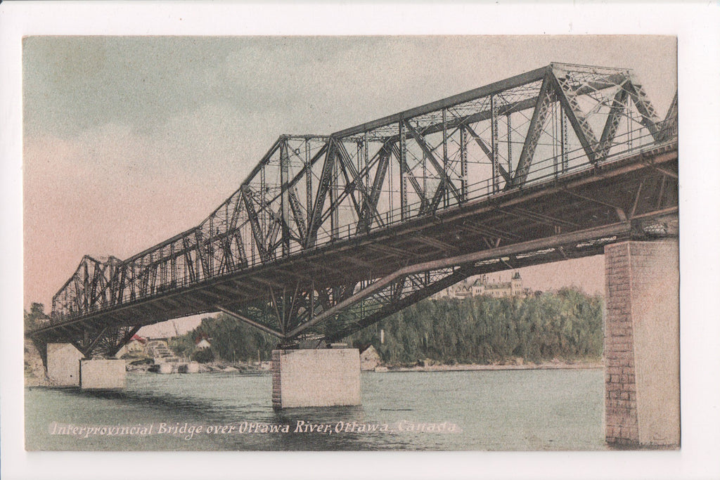 Canada - Ottawa, ON - Interprovincial Bridge (steel) @1906 postcard - w01380