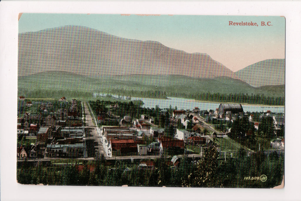 Canada - Revelstoke, BC - Bird Eye view - OLD CHUM pipe tobacco sign - A06125