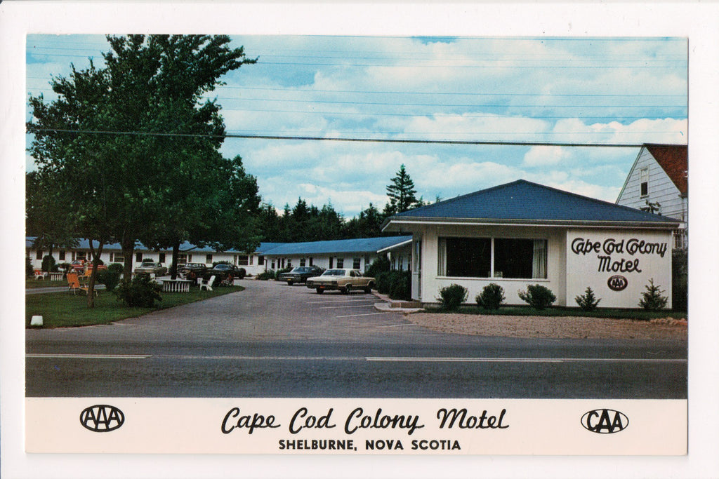 Canada - Shelburne, NS - Cape Cod Colony Motel postcard - w01948