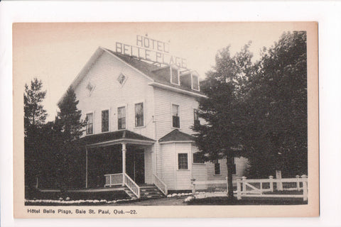 Canada - Baie St Paul, QUE - Hotel Belle Plage postcard - F11061