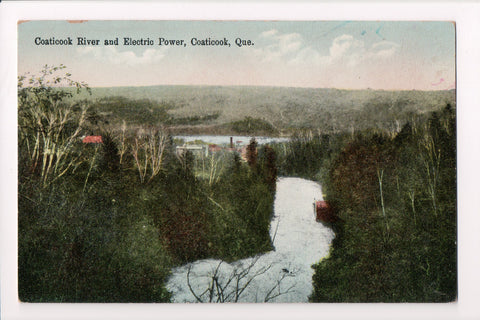 Canada - Coaticook, QUE - Electric Power and Coaticook River postcard - F11065