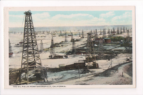 CA, Bakersfield - Oil Fields with derricks (ONLY Digital Copy Avail) - C06325