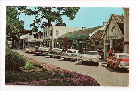 CA, Carmel by the Sea - Ocean Avenue - Shops, old Cars - A06730