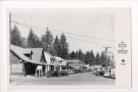 CA, Crestline - Business District, store signs etc - RPPC - B17238
