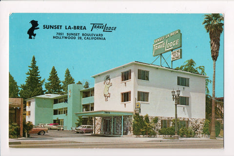CA, Hollywood - Sunset La-Brea TraveLodge Hotel/Motel - CP0374