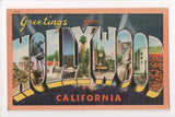 CA, Hollywood - Greetings from, Large Letter postcard - MB0577