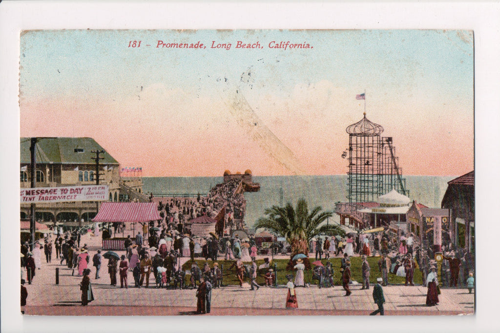 CA, Long Beach - Promenade - Edward H Mitchell postcard No 181 - D07021