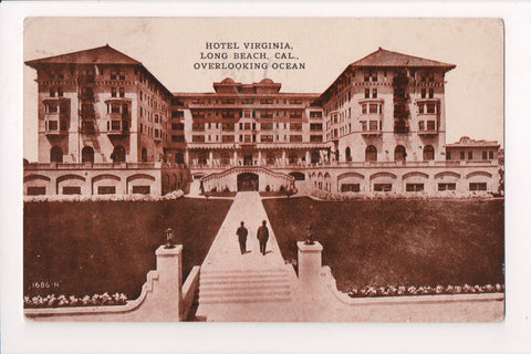 CA, Long Beach - Hotel Virginia with walkway - @1912 Neuner Co pc - F09080