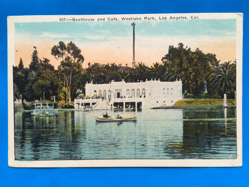 CA, Los Angeles - Westlake Park Boathouse and Cafe - C08072