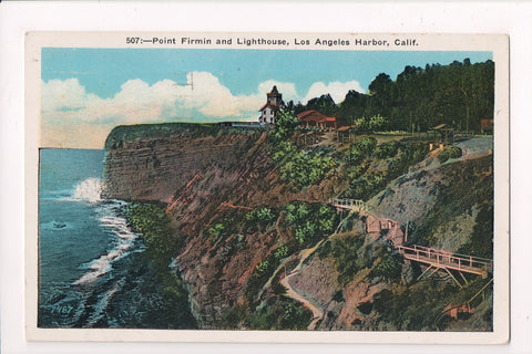 CA, Los Angeles - Point Firmin and Lighthouse, Harbor postcard - E04121