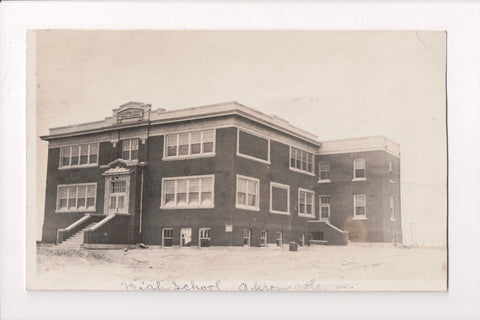 CO, Akron - High School, Washington County - RPPC - C17333