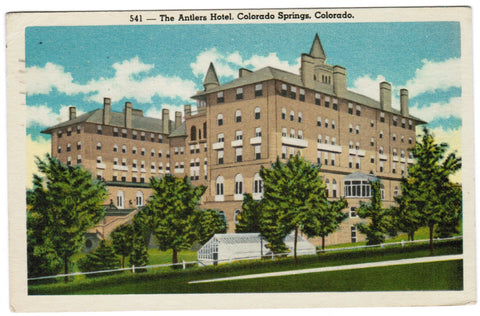 CO, Colorado Springs - The Antlers Hotel postcard - B08197
