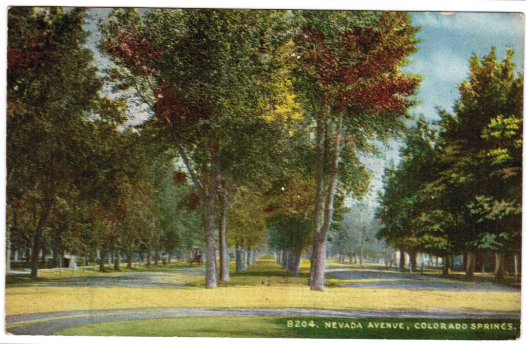 CO, Colorado Springs - Nevada Avenue postcard - w03137