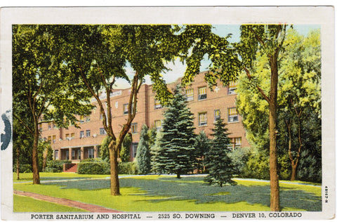 CO, Denver - Porter Sanitarium, Hospital postcard - C06375