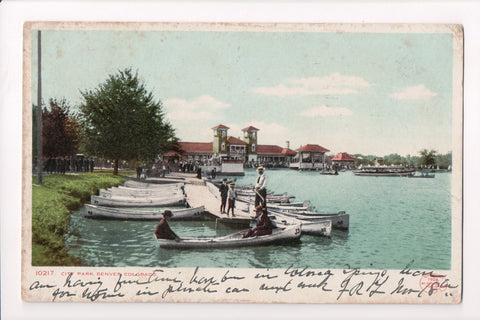CO, Denver - City Park, pier, people - B17050