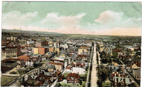 CO, Denver - BEV looking North East from Capitol postcard - E04047