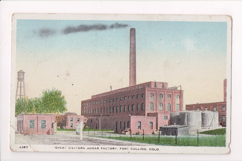 CO, Fort Collins - Great Western Sugar Factory, water tower - @1918 - C17615