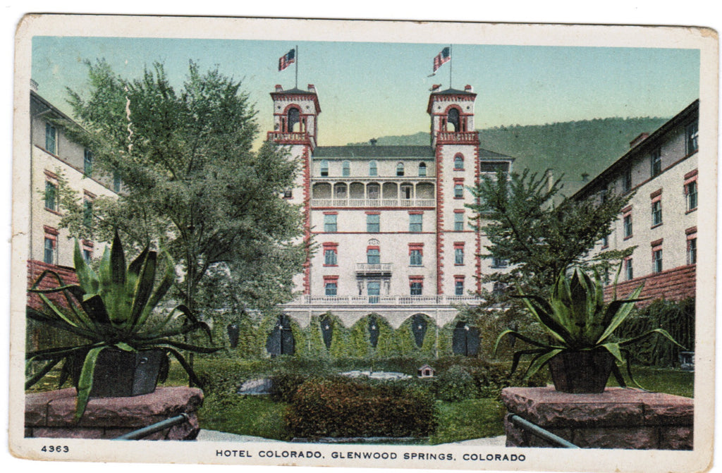 CO, Glenwood Springs - Hotel Colorado postcard - SL2526