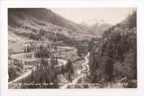 Co, Ironton Loops, Red Mtns - Million Dollar Highway - Sanborn RPPC - A17295