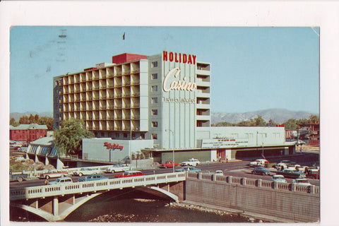 NV, Reno - Holiday Hotel with Casino sign postcard - CR0419