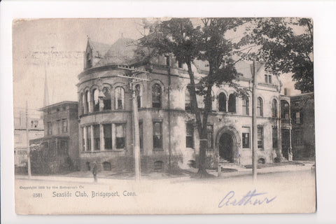 CT, Bridgeport - Seaside Club - H H Jackson postcard - A10013c