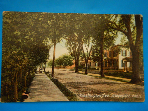 CT, Bridgeport - Washington Avenue postcard - E09123
