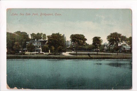 CT, Bridgeport - Sea Side Park, Lake, buildings - B17060