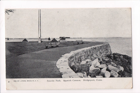 CT, Bridgeport - Seaside Park, Spanish Cannon - Stern Card - w04813
