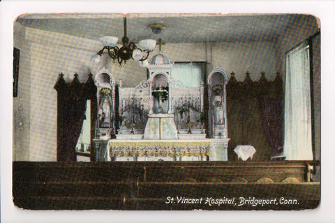 CT, Bridgeport - St Vincent Hospital chapel interior, altar - w02547